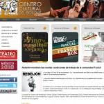 Rebelión en la portada de la pagina oficial del Centro Cultural del Bosque, Bellas Artes: