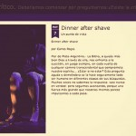 "Crítica sobre ""Dinner Aftershave"" por Carlos Rojas:"