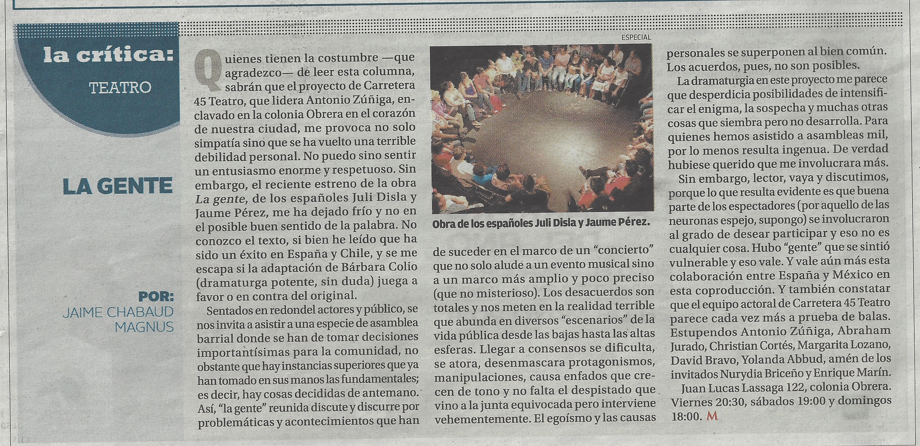La Gente - Milenio diario impreso - 13 de mayo 2016